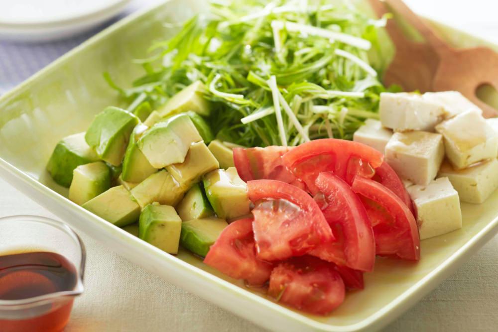 豆腐アボカドサラダ