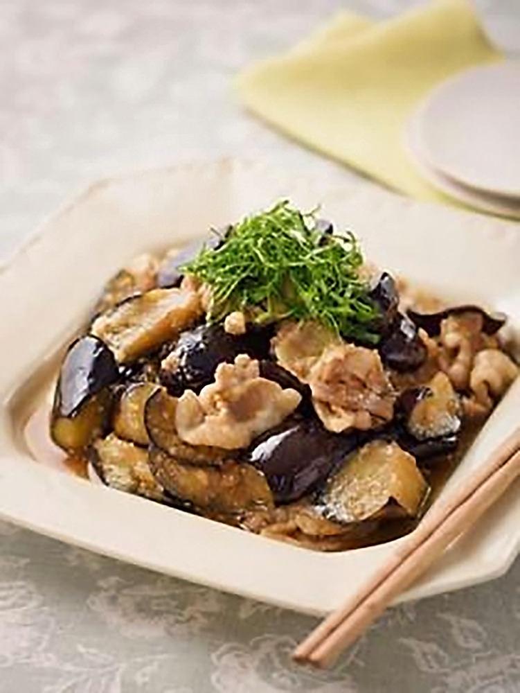 炒め ナス 豚肉 味噌